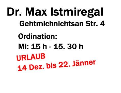 Es ist nicht so einach in Österreich einen Arzt um die Weihnachtszeit zu finden. Trotz horrender Krankkassenbeiträge