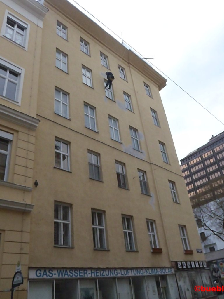Fassadenkletterer in Wien