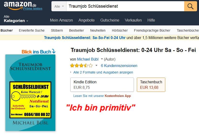 Als eBook für Unterwegs oder als gedrucktes Buch, Traumjob Schlüsseldienst, der lustige Roman mit TIEFGANG