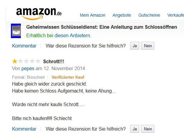 Die Kundenrezension: Amazons Leitbild