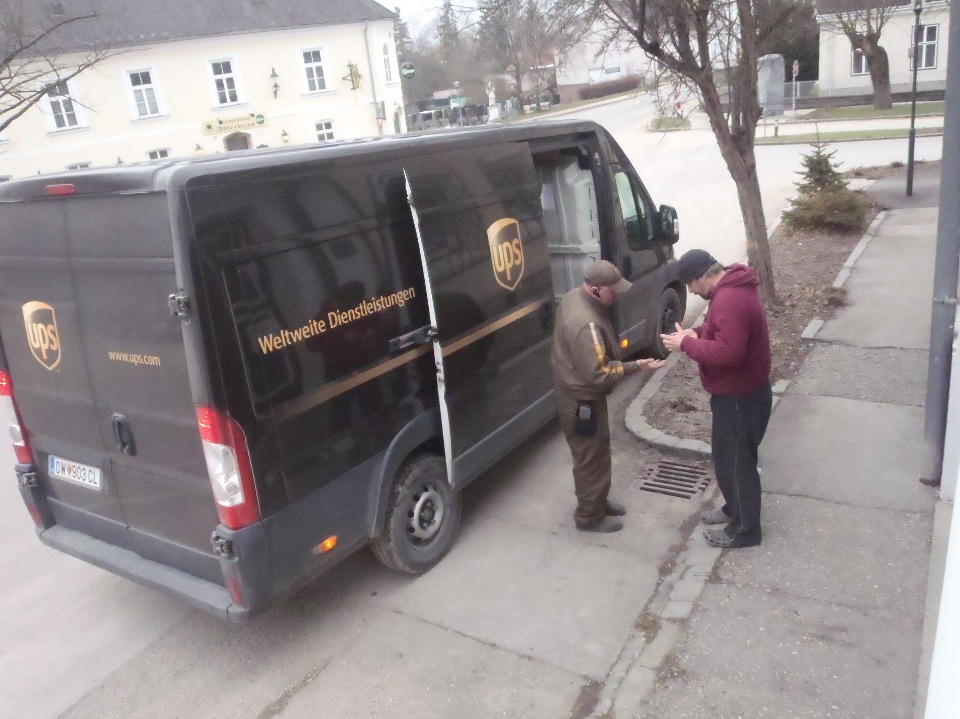 UPS liefert weltweit bis zur Haustüre innerhalb kürzester Zeit. Auch von South Carolina nach Ernstbrunn