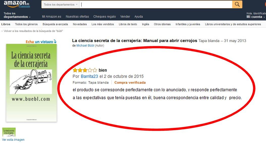 Eine neue Lesermeinug auf Amazon Ein zufriedener Kunde: Ein pefektes Buch