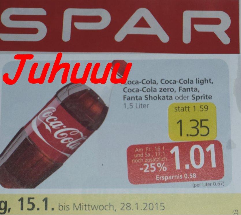Fantastische Neuigkeiten Die Erde ist gerettet Cola ist diese Woche billiger, da kann man gut schlafen