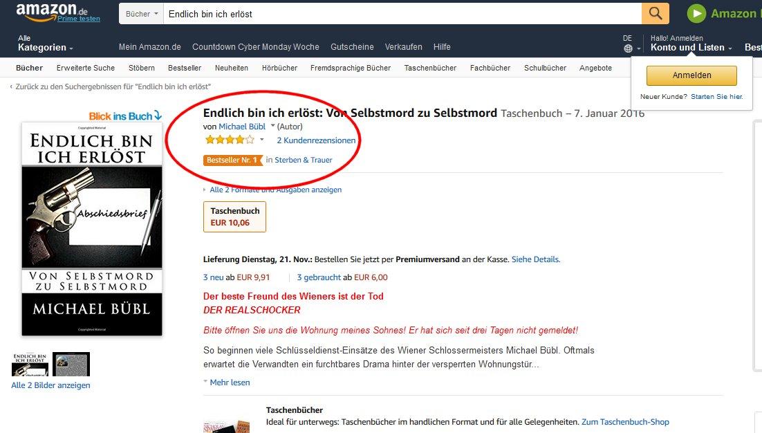 Drei Tage Bestseller Nummer 1! Das schaffen nur wenige Bücher
