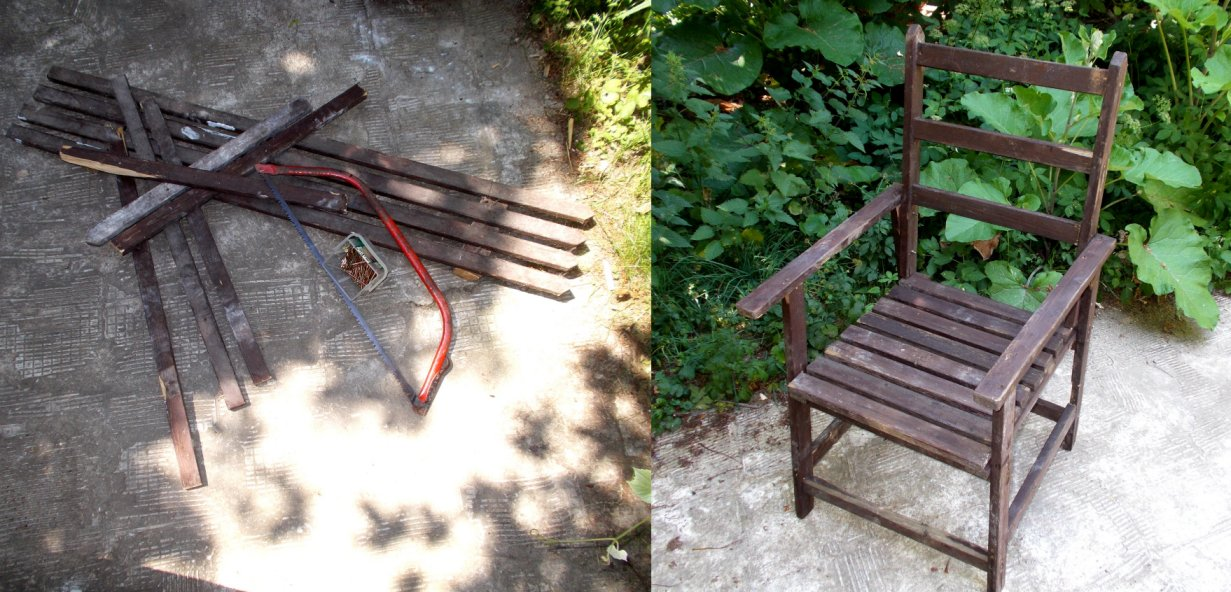 Etwas Holz, etwas Werkzeug und etwas Zeit. So kann man mit sehr wenig etwas wirklich Gutes schaffen.