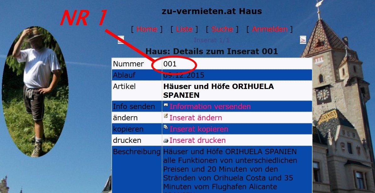 Wer sucht eine Haus in Spanien? Hier könnt Ihr es finden!  Der Ösi für Deutschland!