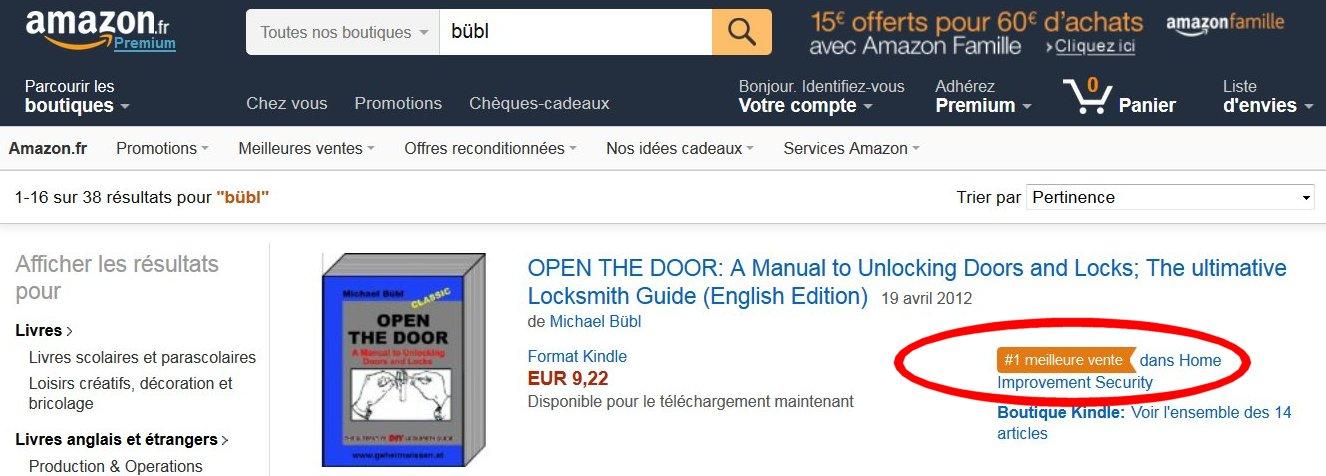Frankreich ist einer schwersten Märkte der Welt, dennoch ist das Buch des Wiener Schlossermeisters Michael Bübl Bestseller #1 (meilleure-vente)