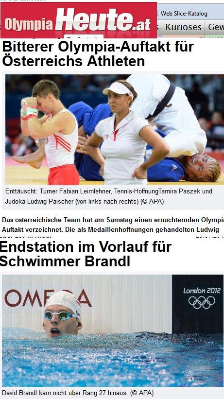 Olympia in Österrreich - Die Trauerspiele