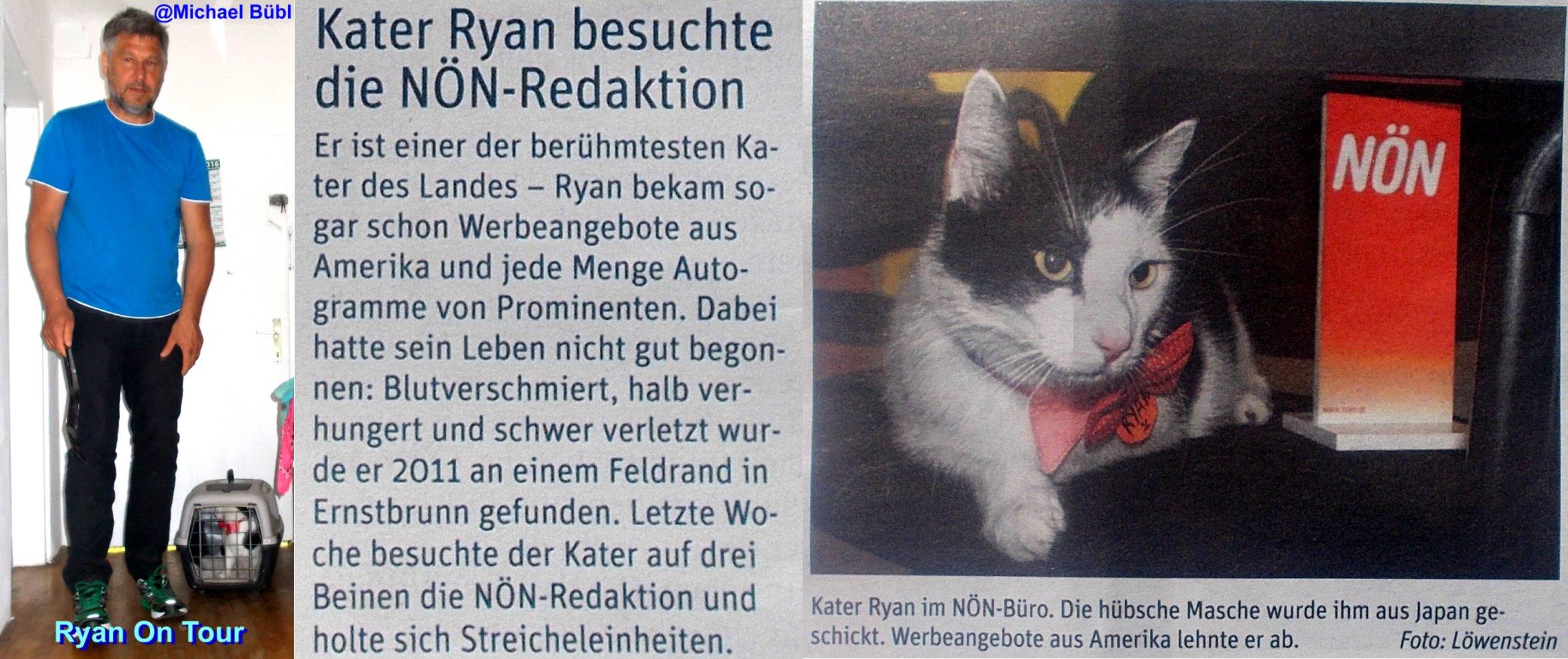 Ryan Derkater bei der österreichischen Zeitung NÖN Im Sinne des Tierschutz
