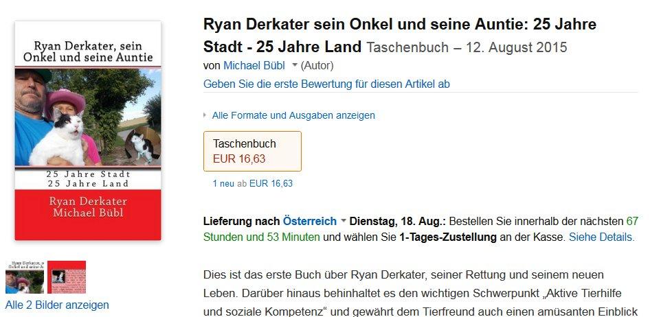 Ein unterhaltsames Buch über den ersten Facebookstar und seinen Retter: Ryan Derkater sein Onkel und seine Auntie  25 Jahre Stadt - 25 Jahre Land