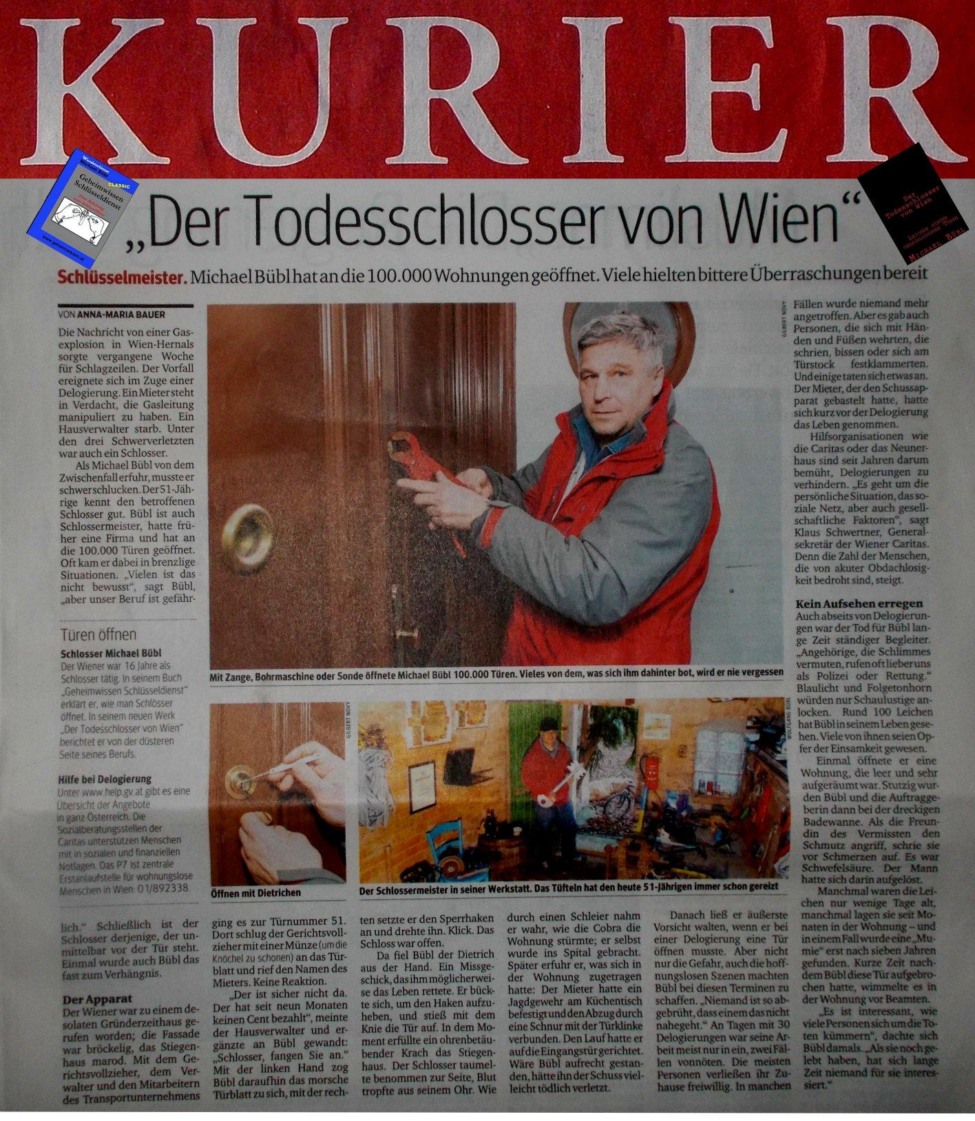Ein fantastischer Bericht in einer der meist gelesenen Zeitungen Österreichs, im KURIER